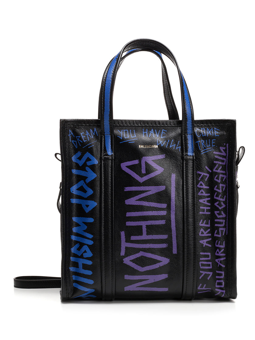 BALENCIAGA GRAFFITI BAZAR SHOPPER TOTE BAG