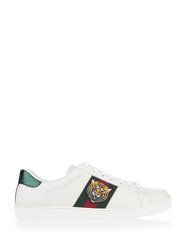 Gucci Ace Tiger Embroidered Sneakers