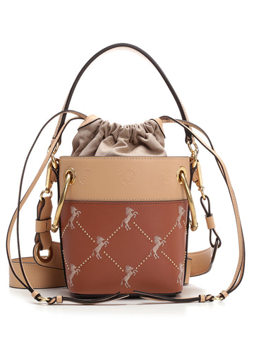 Chloé Roy Horse Embroidered Bucket Bag