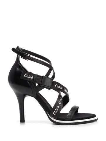 Chloé Logo Strappy Sandals