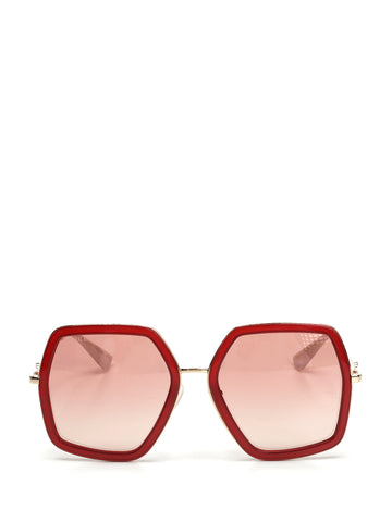 Gucci Odd-Shaped Sunglasses