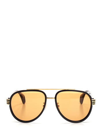 Gucci Eyewear Aviator Web Sunglasses