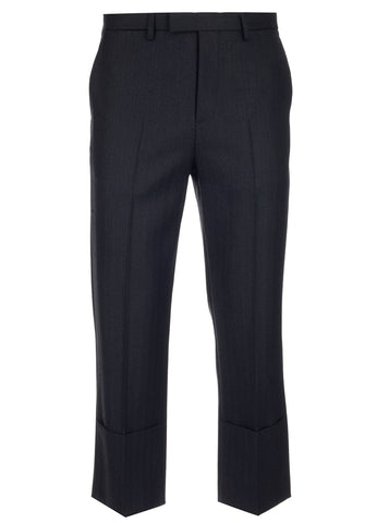 Raf Simons Slim Fit Turn Up Trousers