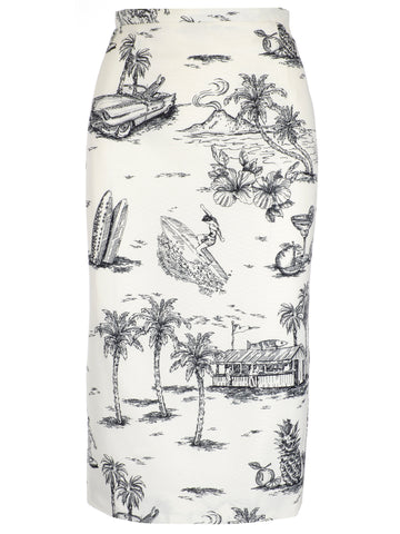 N°21 Printed Pencil Skirt