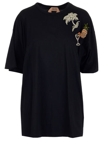 N°21 Embellished Oversized T-Shirt