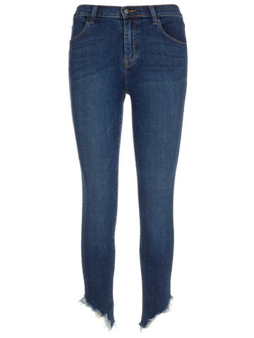 J Brand High-Rise Cropped Jeans