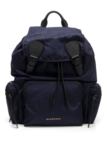 Burberry Leather Trim The Large Rucksack