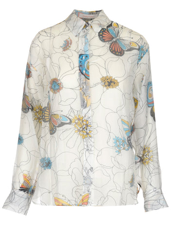 See By Chloé Sheer Printed Blouse