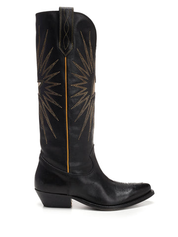 Golden Goose Deluxe Brand Star Embroidered Boots