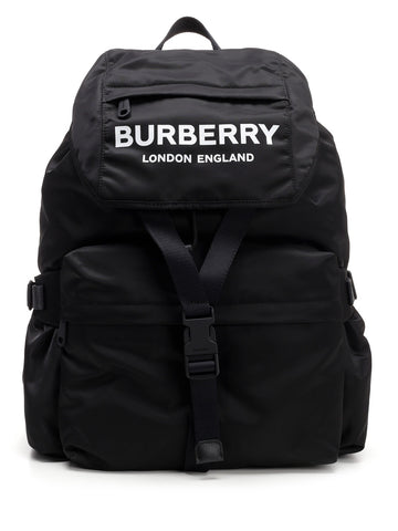 Burberry Logo Print Backpack