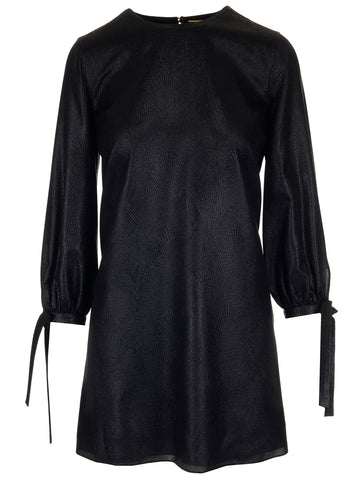 Saint Laurent Balloon Sleeved Mini Dress