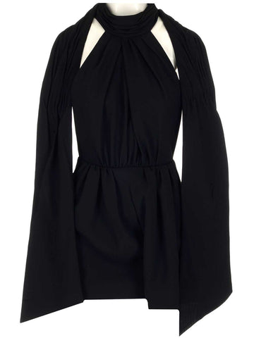 Saint Laurent Sleeveless Halterneck Playsuit