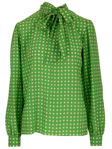 Saint Laurent Star Print Blouse