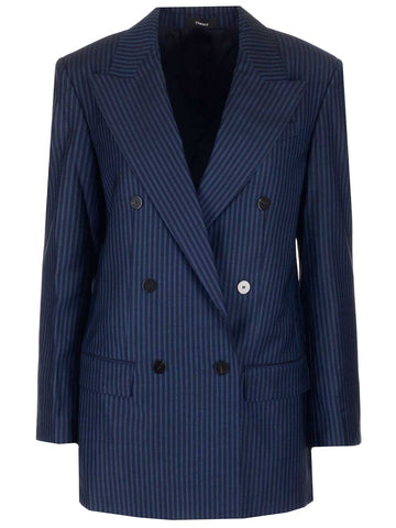 Theory Pinstripe Tailored Blazer