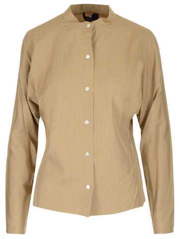 Theory Collarless Buttoned Shirt