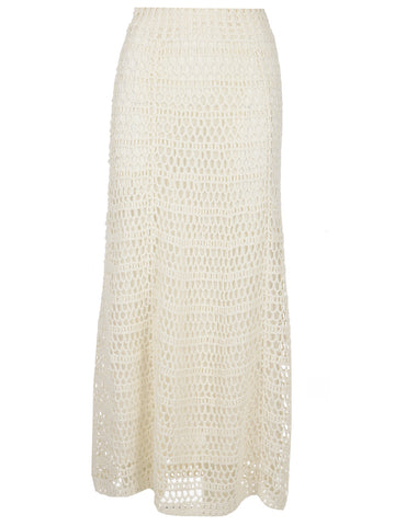 Theory High-Waisted Crochet Skirt