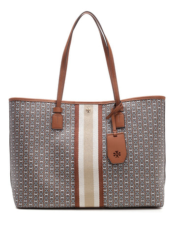 Tory Burch Gemini Link Striped Print Tote Bag