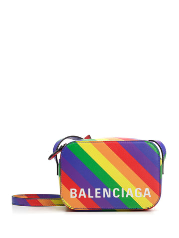 Balenciaga Rainbow Logo Crossbody Bag