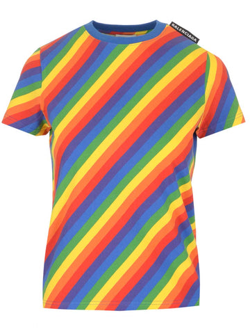 Balenciaga Rainbow Stripe T-Shirt