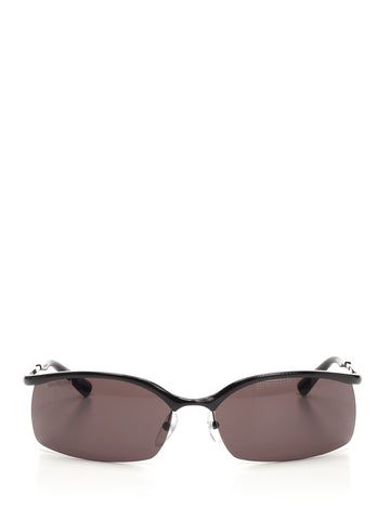Balenciaga Fire Rectangle Sunglasses
