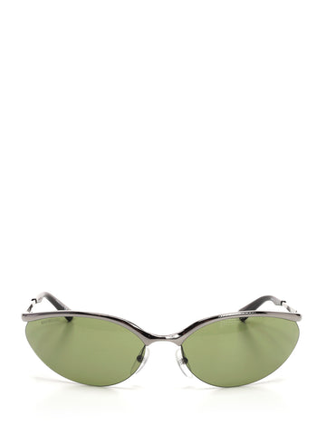 Balenciaga Fire Oval Sunglasses