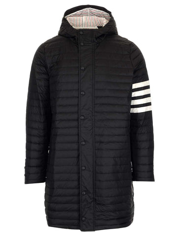 Thom Browne 4 Bar Hooded Down Coats