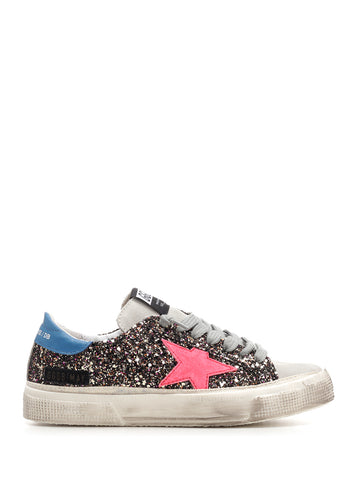 Golden Goose Deluxe Brand May Sequin Lace up Sneakers