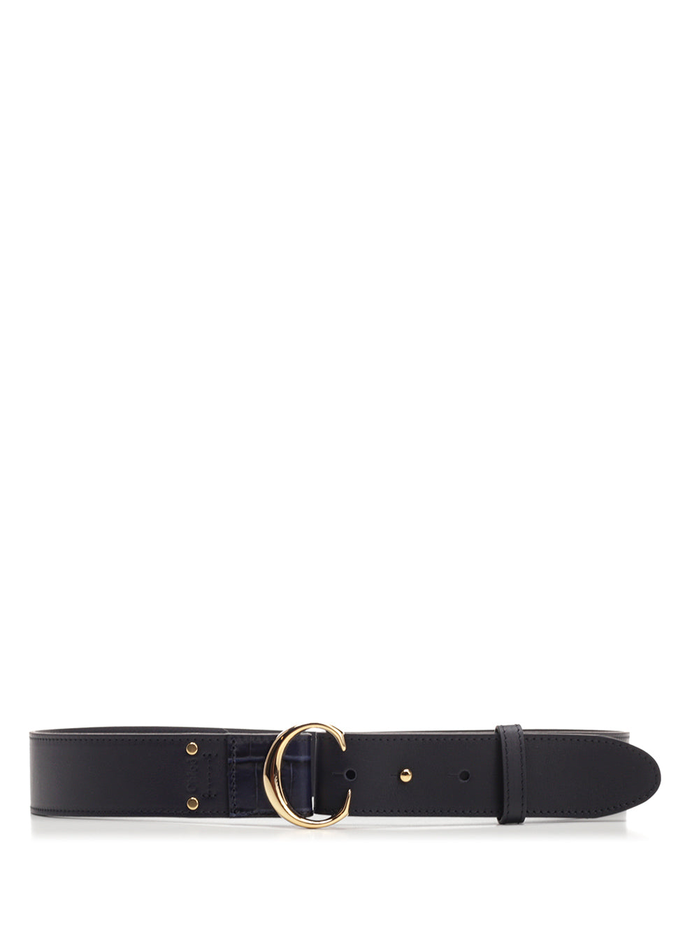 Chloé Belts CHLOÉ C LOGO BUCKLE BELT