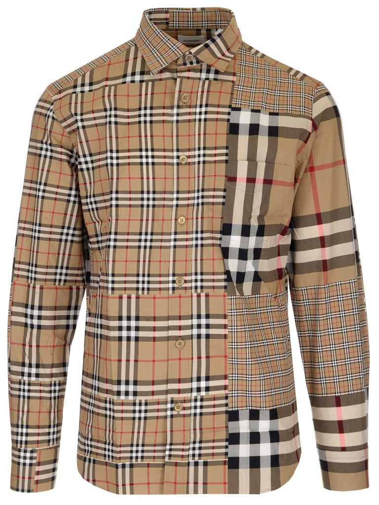 Burberry T-shirts BURBERRY PATCHWORK CHECKED SHIRT