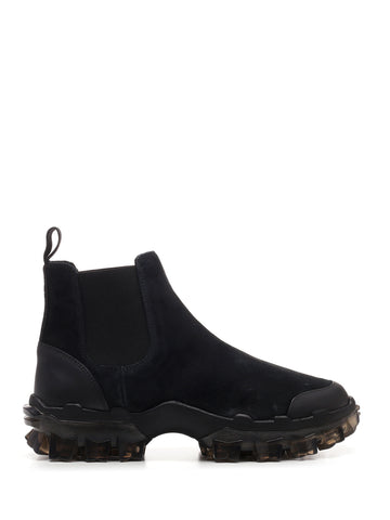 Moncler Panelled Suede Ankle Boots