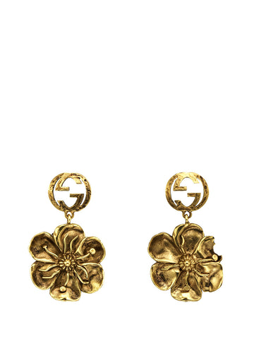 Gucci GG Floral Detail Earrings