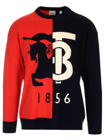 Burberry Contrast Colour Logo Sweater