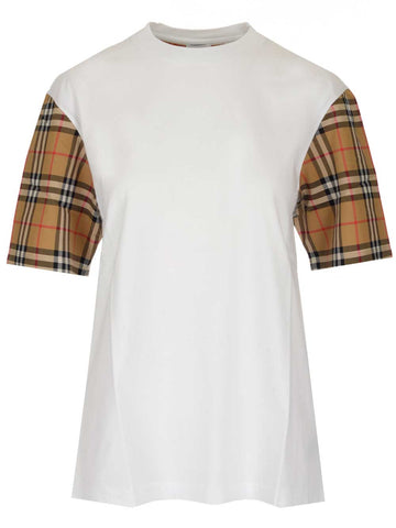 Burberry Vintage Check Sleeves T-Shirt