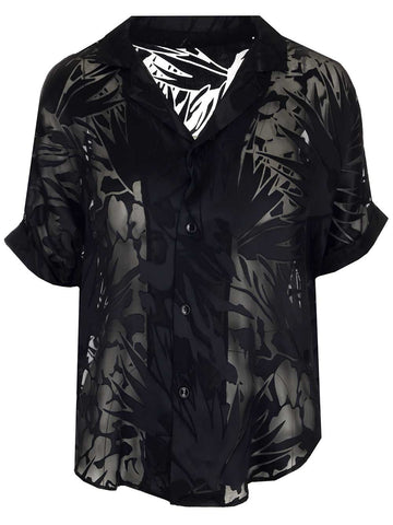 Saint Laurent Sheer Short Sleeve Shirt