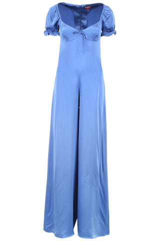 Staud Naomi Bow Detail Flared Jumpsuit