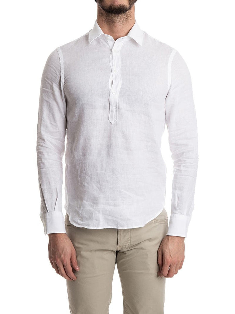 Aspesi Three Button Linen Shirt
