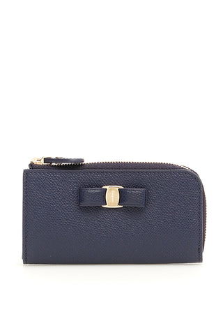 Salvatore Ferragamo Vara Bow Zip-Up Purse