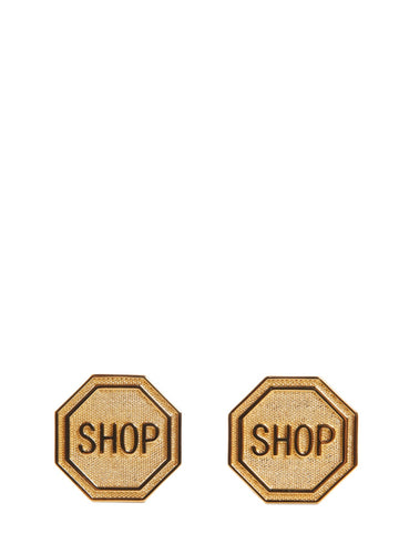 Moschino Shop Clip Earrings