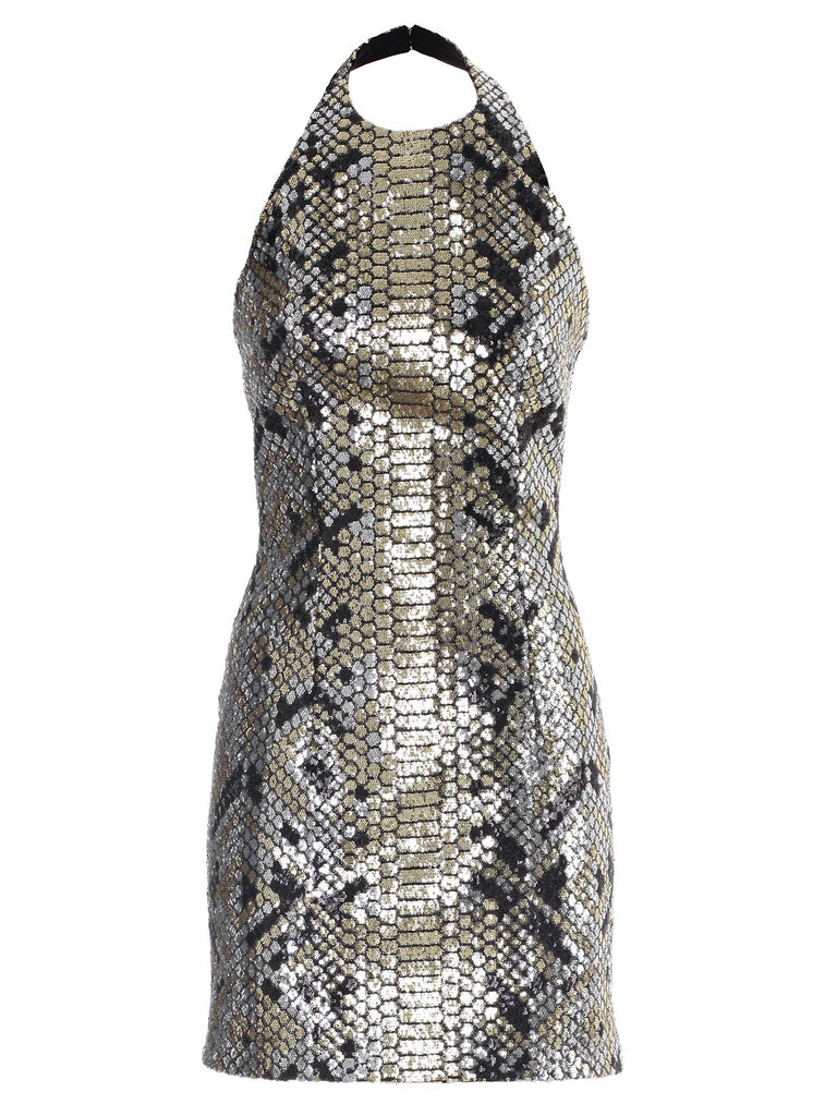 Balmain Sequin Neckholder Dress