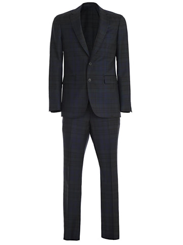 Burberry Slim Fit Check Print Wool Suit