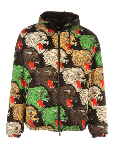Gucci Tiger Print Hooded Jacket