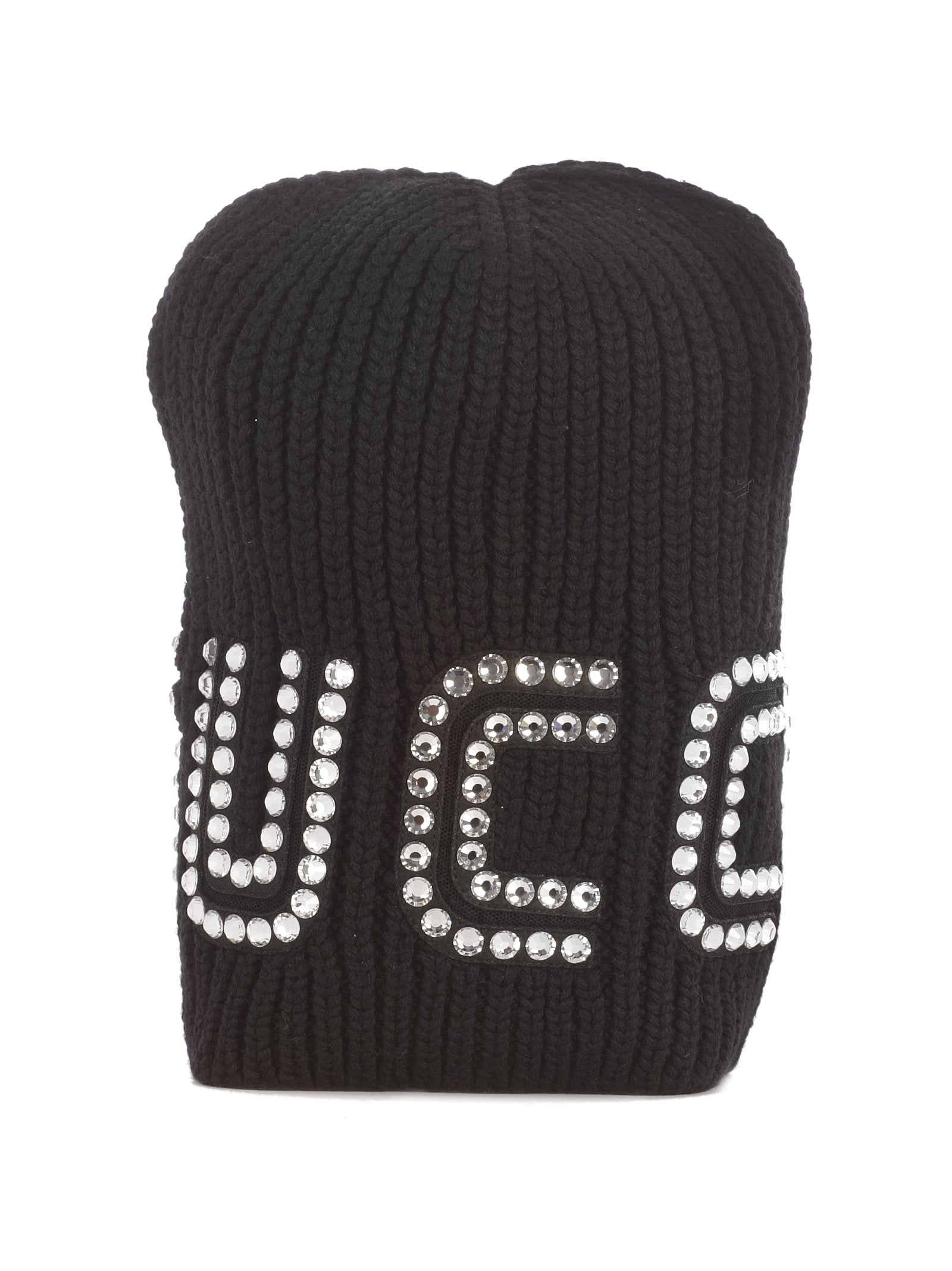 b287d2e5d11 Gucci Guccy Crystal Embellished Beanie In Black