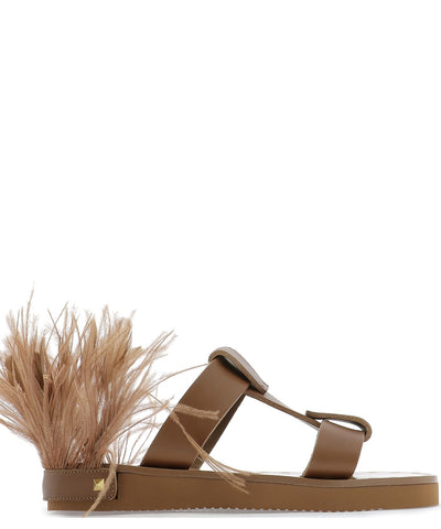 Valentino Garavani Feather Sandals