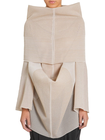 Rick Owens Oversized Funnel Collar Draped Jumper