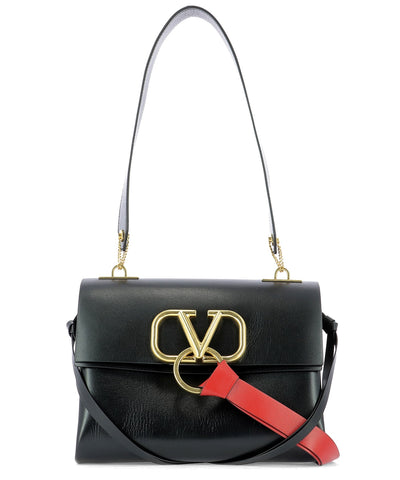 Valentino Garavani Small V-Ring Shoulder Bag