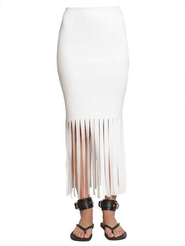 Alexander Wang Fringed Hem Fitted Skirt