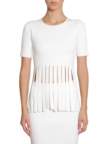 Alexander Wang Fringed Hem Top