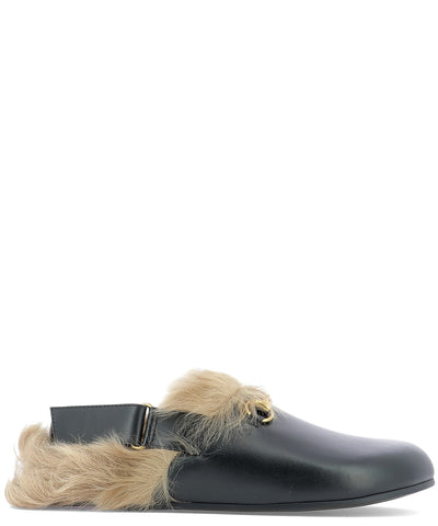 Gucci Fur Lined Horsebit Loafers