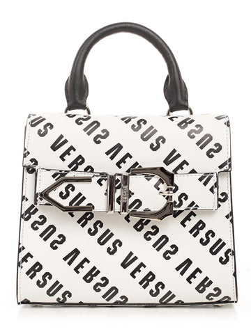 Versus Logo Print Buckle Detail Tote Bag