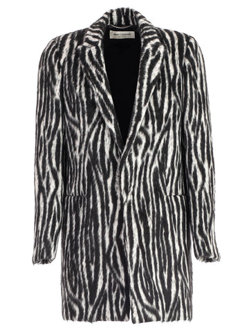 Saint Laurent Tiger Stripe Fur Coat